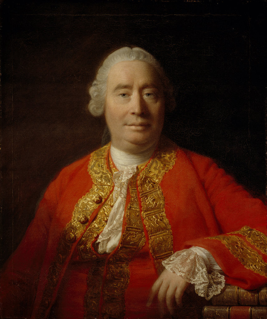 Detail of David Hume, 1711 - 1776. Historian and philosopher by Allan Ramsay