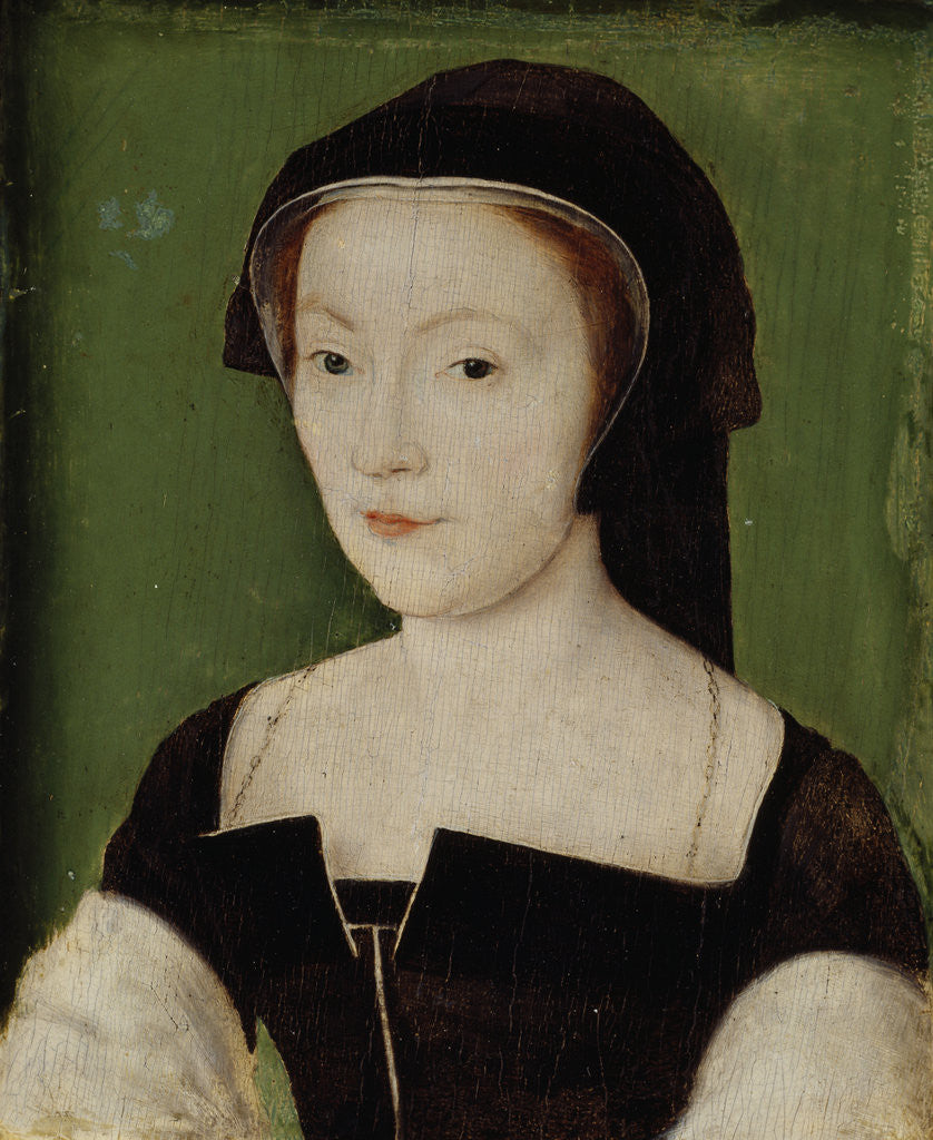Detail of Mary of Guise, 1515 - 1560. Queen of James V by Corneille de Lyon
