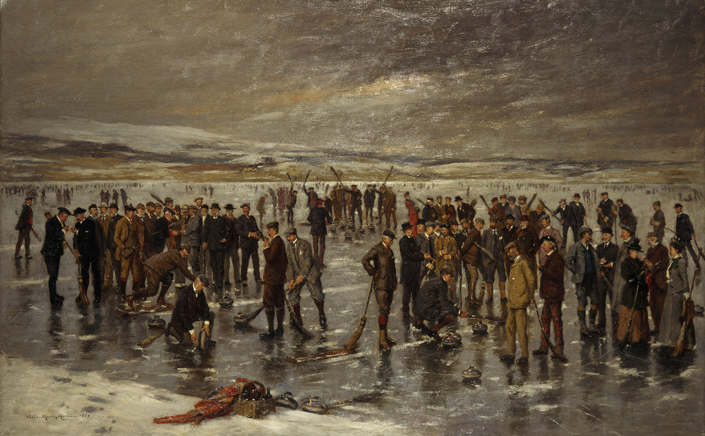 Detail of Curling at Carsebreck by Charles Martin Hardie