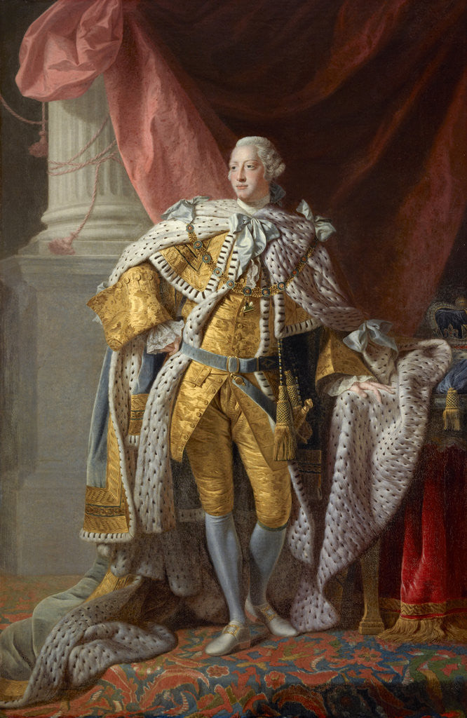 Detail of George III, 1738 - 1820. Reigned 1760 - 1820 by Allan Ramsay