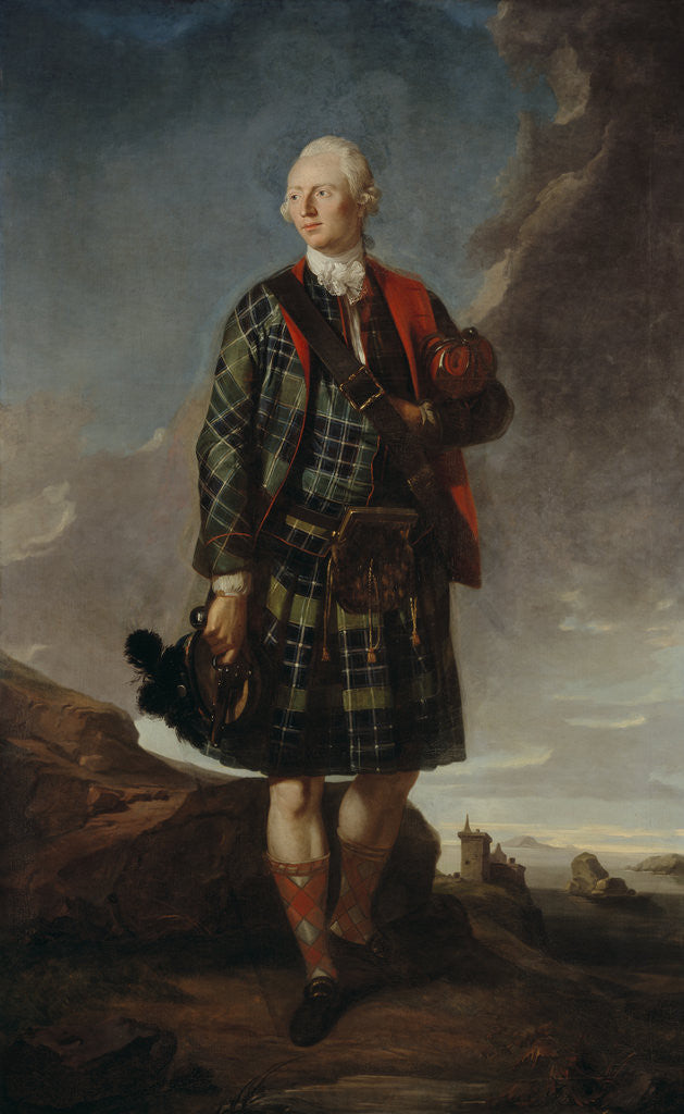 Detail of Sir Alexander Macdonald, 1744 - 1795. 9th Baronet of Sleat and 1st Baron Macdonald of Slate by Attributed to Sir George Chalmers