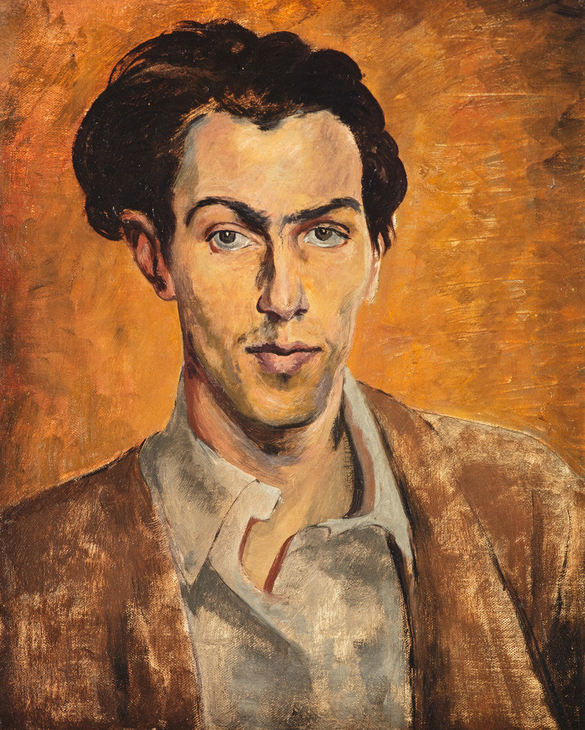 Detail of Robert Colquhoun, 1914 - 1962. Artist (Self-portrait) by Robert Colquhoun