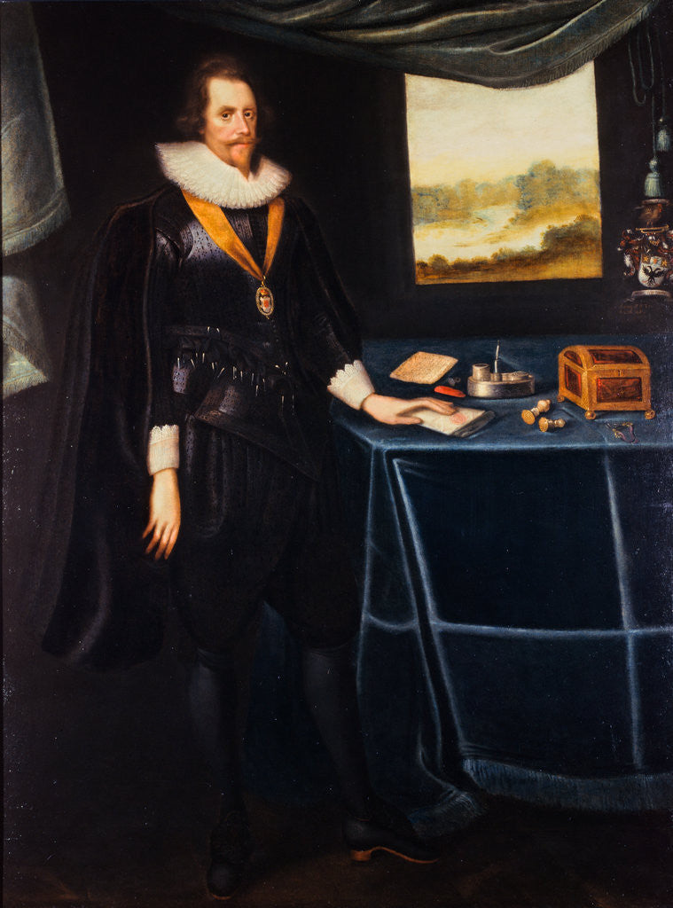 Detail of Sir Archibald Acheson (1583 -1634). Secretary of State by George Jamesone