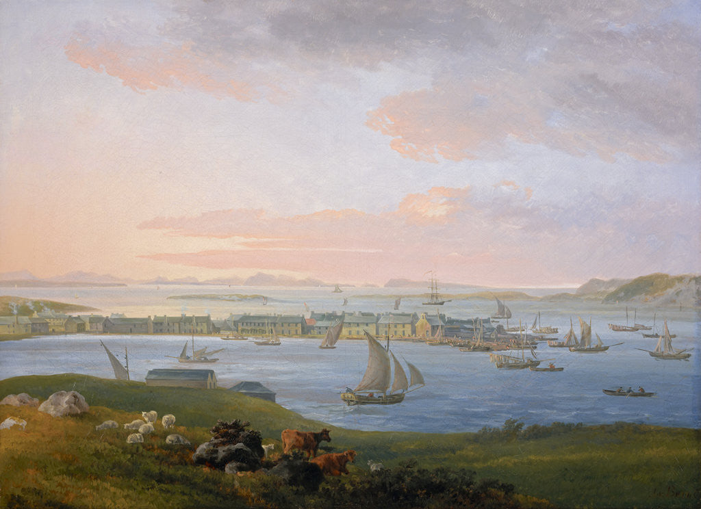 Detail of A View of Stornoway by James Barret