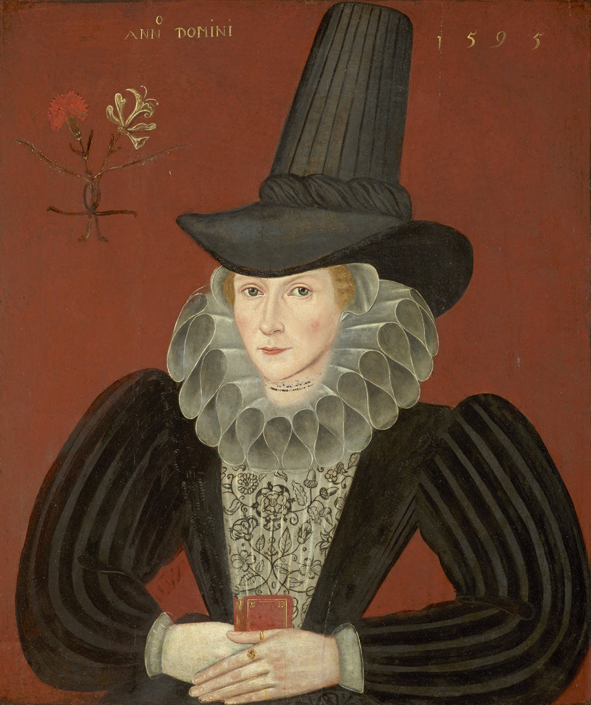 Detail of Esther Inglis, 1571 - 1624. Calligrapher and miniaturist by unknown