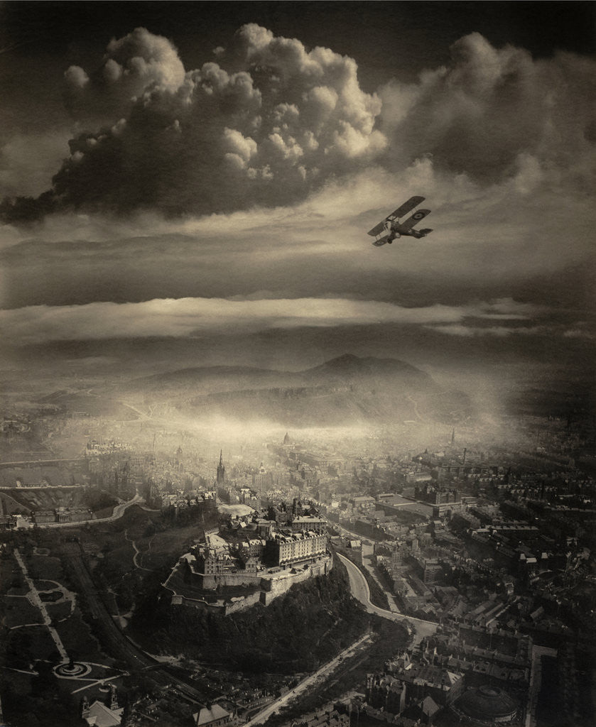 Detail of Aerial view of Edinburgh by Alfred G. Buckham