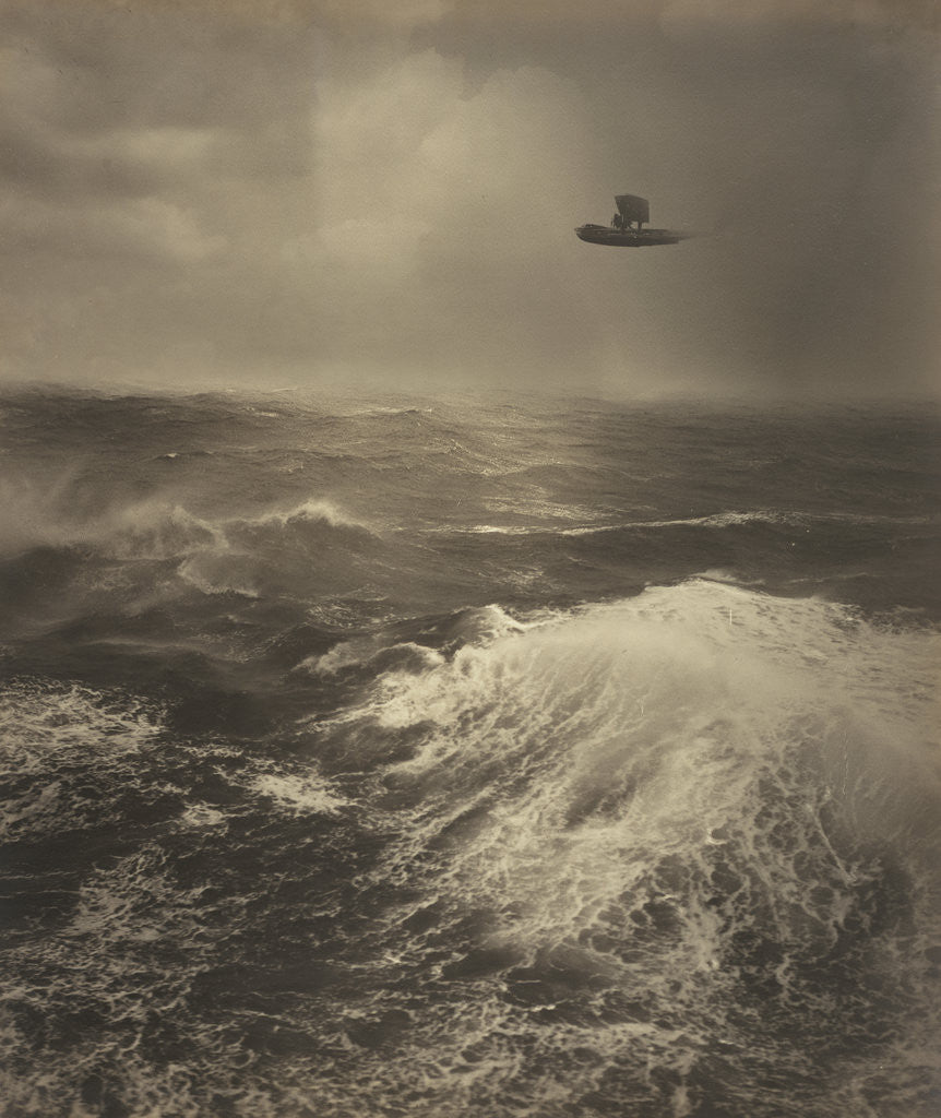 Detail of Flying Boat Over Sea by Alfred G. Buckham