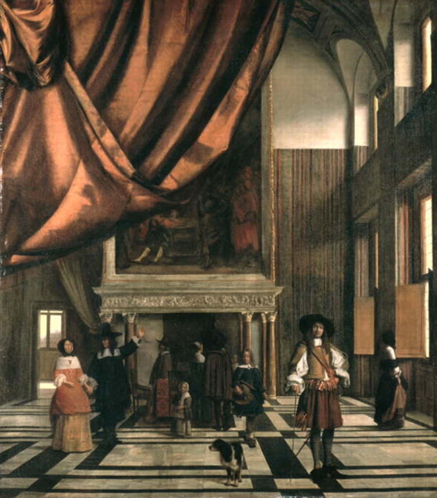 Detail of The Council Chamber of the Burgermasters by Pieter de Hooch