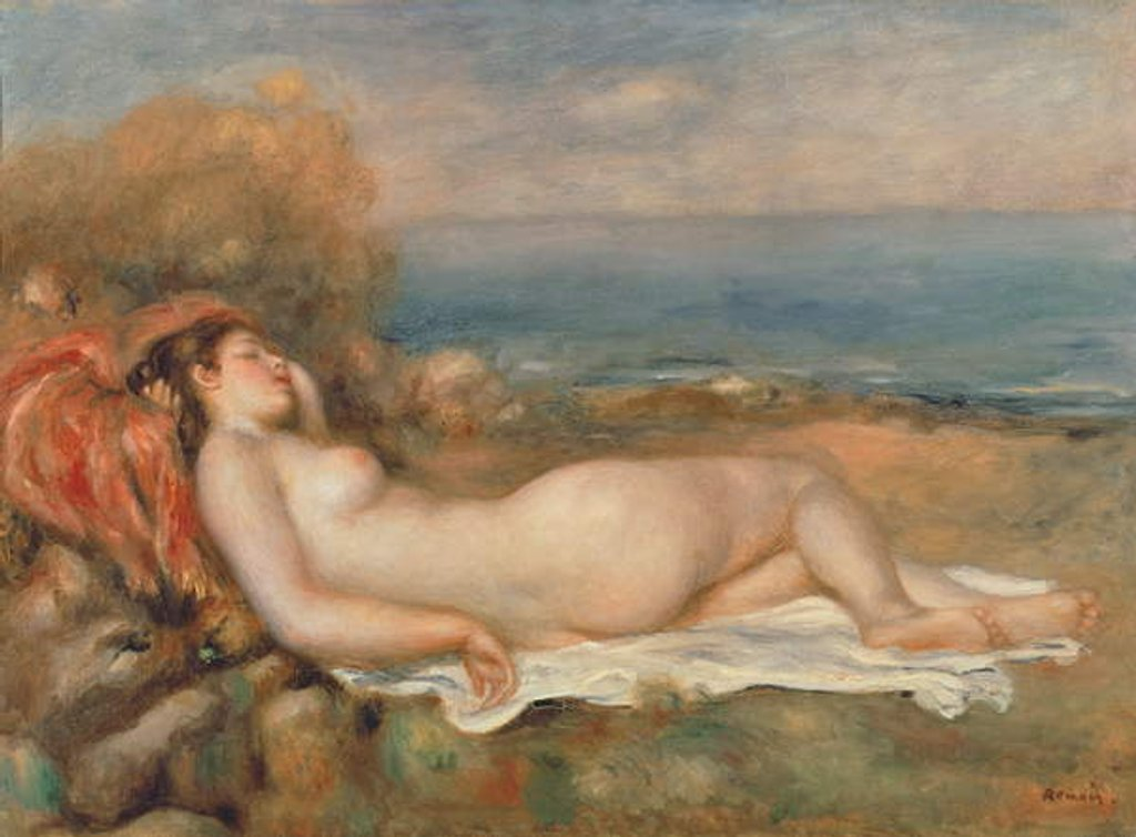 Detail of The Nude in the Grass by Pierre Auguste Renoir