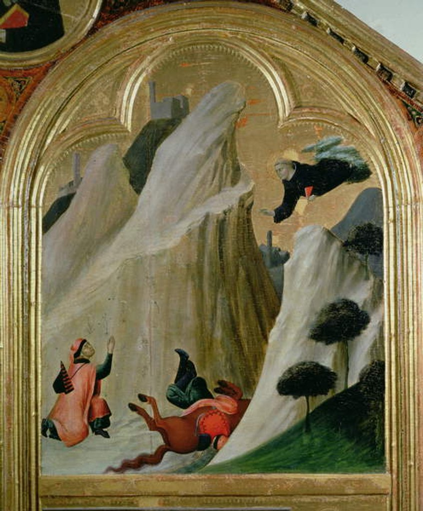 Agostino Saving a Man who Fell from his Horse by Simone Martini
