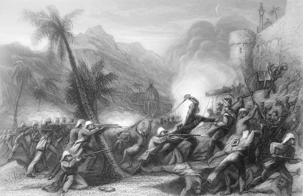 Detail of Drawing Depicting The Sepoy Rebellion by Corbis