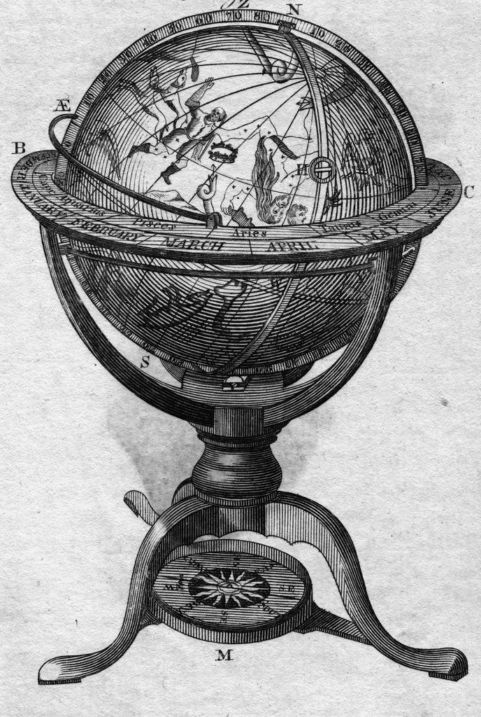 Detail of Celestial Globe by Corbis