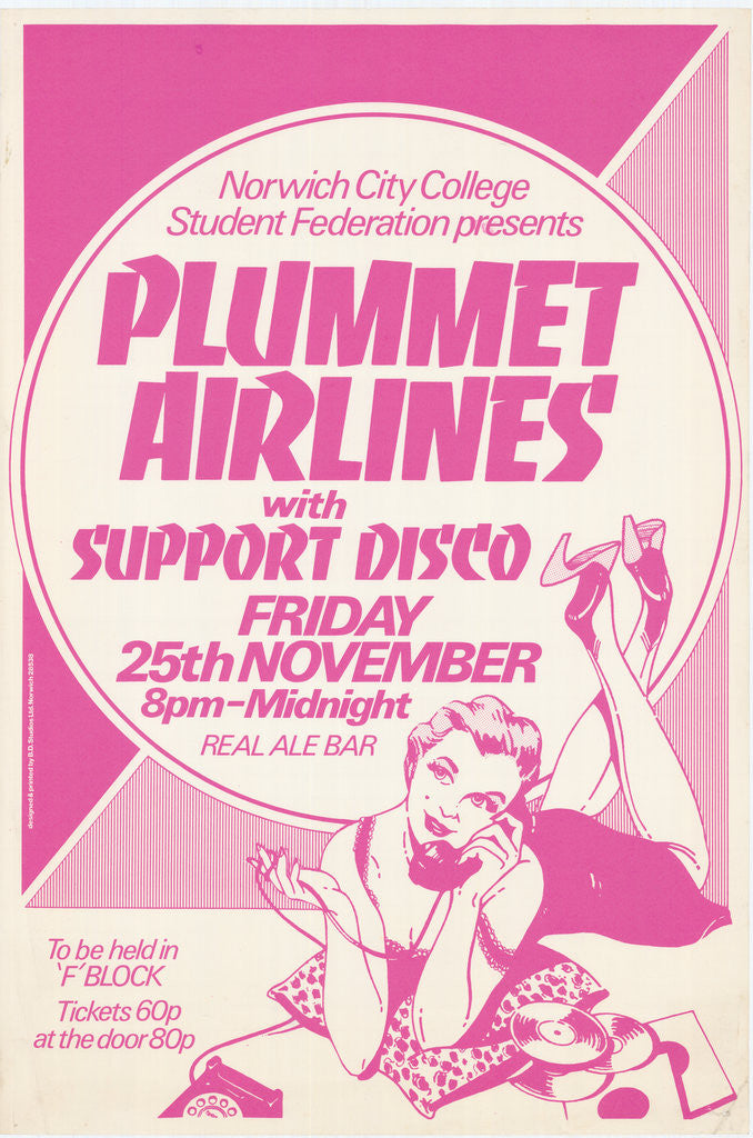 Detail of Plummet Airlines poster by Rokpool