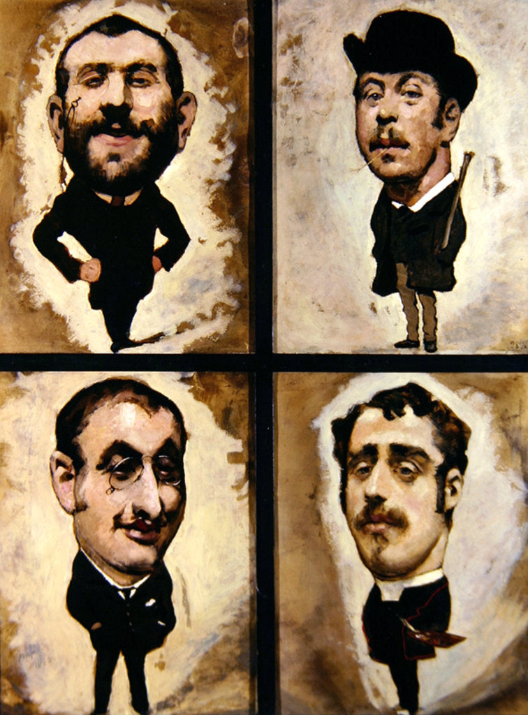 Detail of Four caricatures, 1882-83 by Julius Mandes Price
