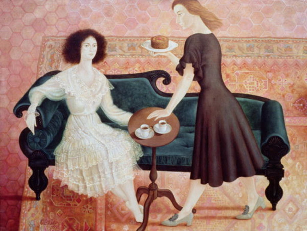 Detail of Coffee Morning, 1993 by Patricia O'Brien