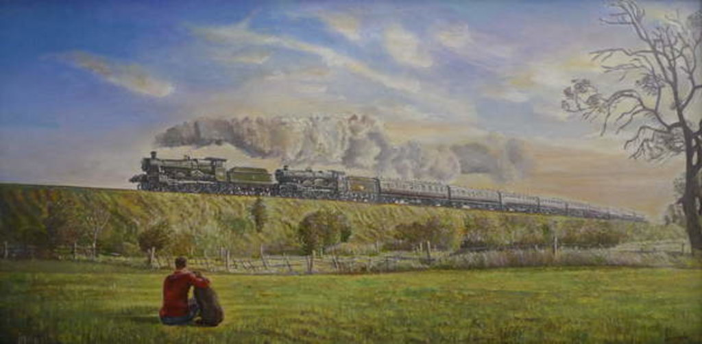 Detail of Great Western Glory, 2008 by Kevin Guild of Railway Artist Parrish