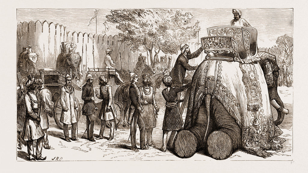 The Prince Of Wales In India: The Prince Mounting His Elephant At Jeypore, 1876