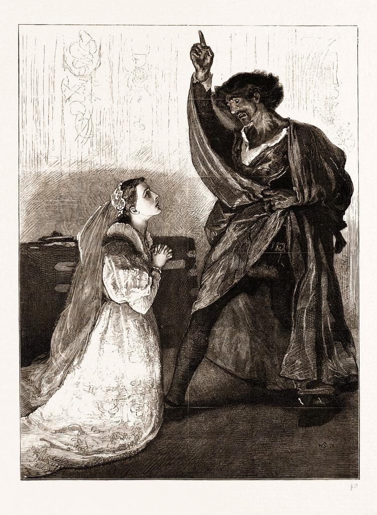 Mr. Irving And Miss Isabel Bateman In othello At The Lyceum Theatre, London