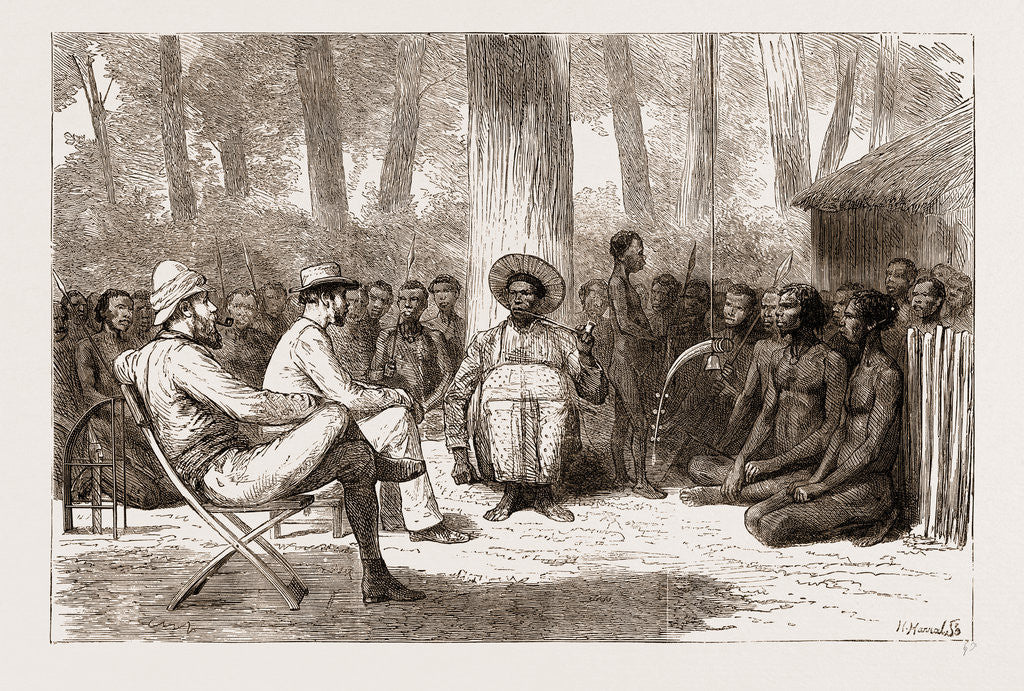 Lieut. Cameron's Reception By Katende, Africa