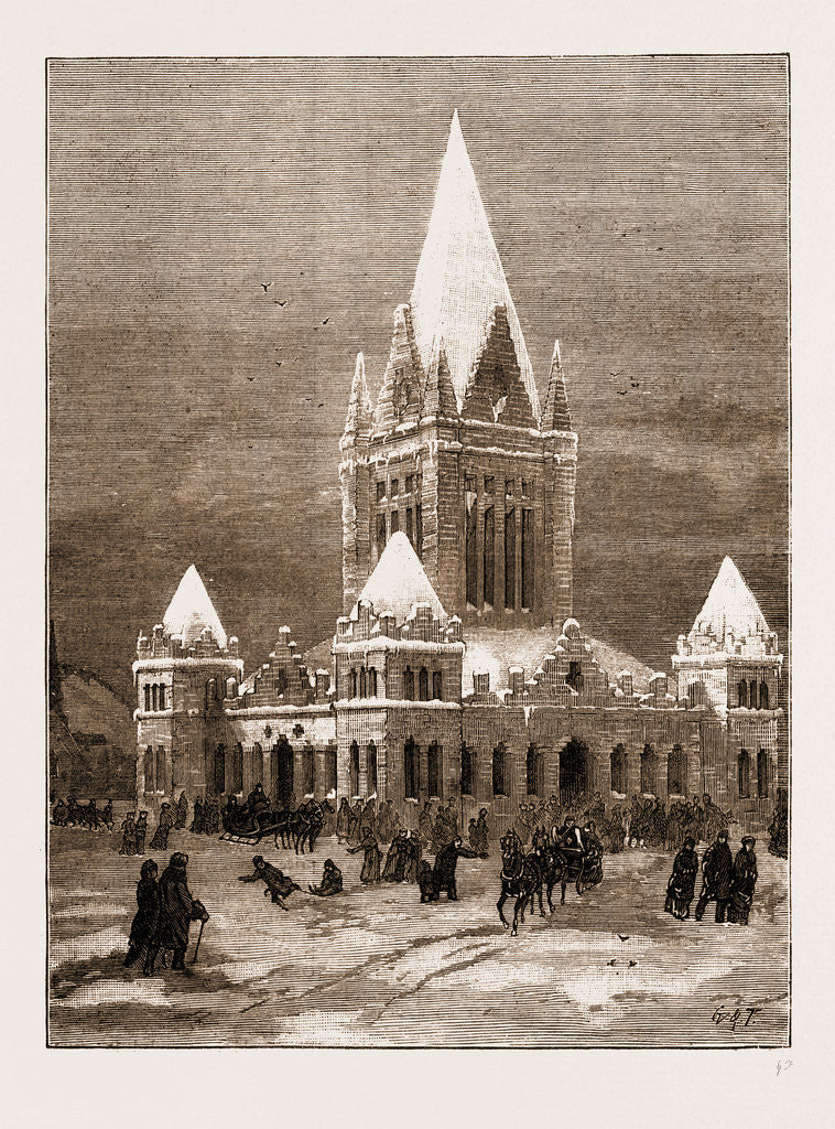Winter In Canada: The Ice Palace At Montreal, 1883
