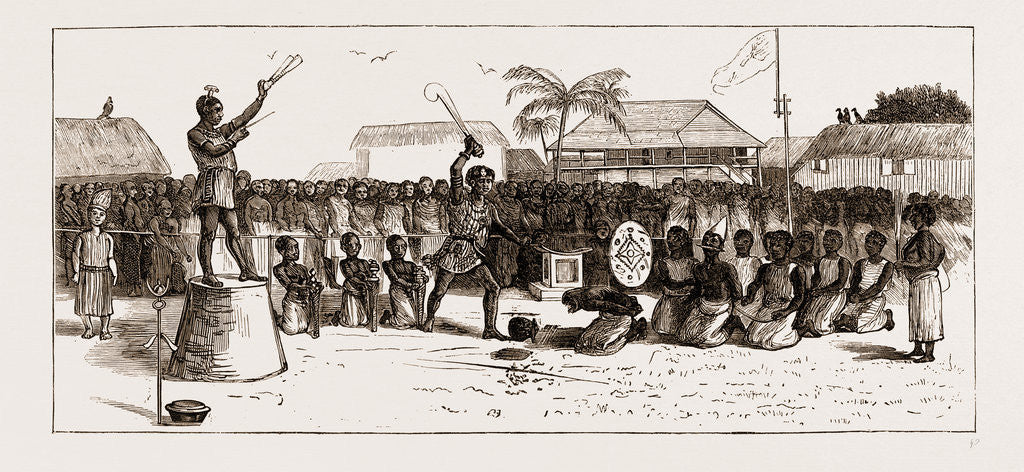Detail of A Public Execution At Coomassie, The Ashantee War 1873. Anglo-ashanti Wars Between The Ashanti Empire by Anonymous