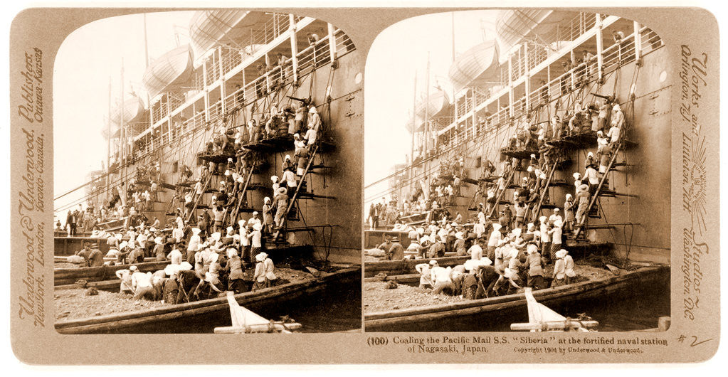 Detail of Coaling the Pacific Mail S.S by Anonymous