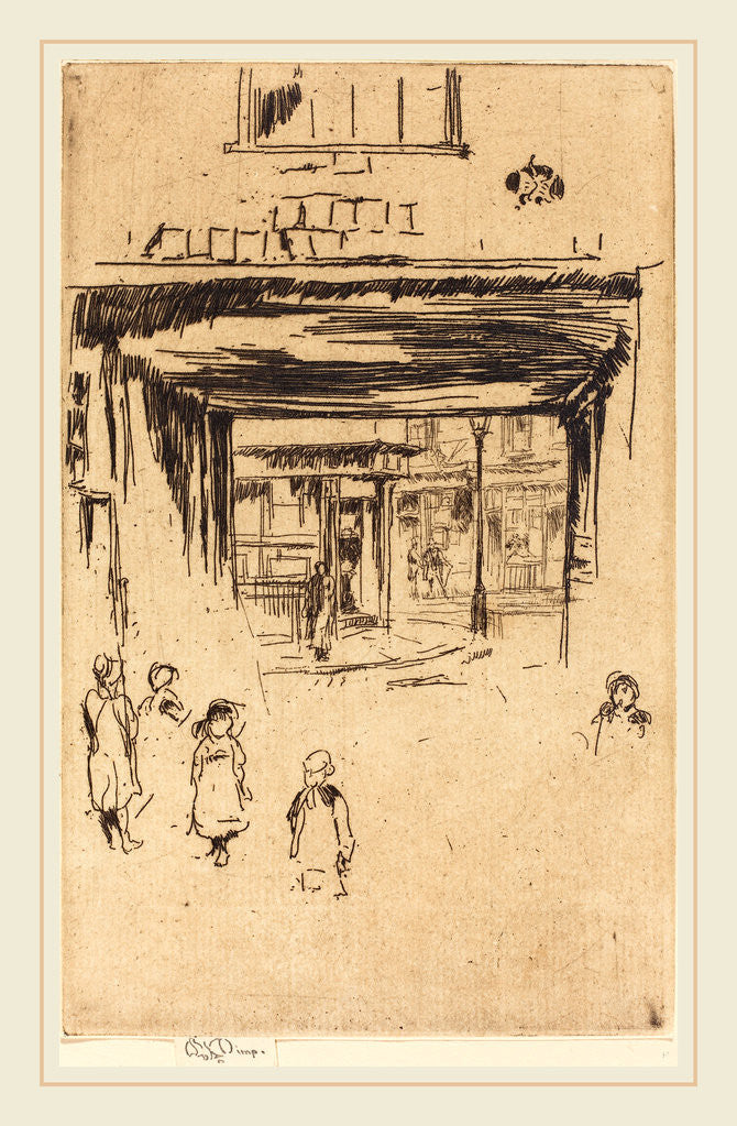 Detail of Drury Lane by James McNeill Whistler