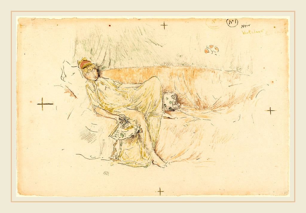 Draped Figure Reclining by James McNeill Whistler
