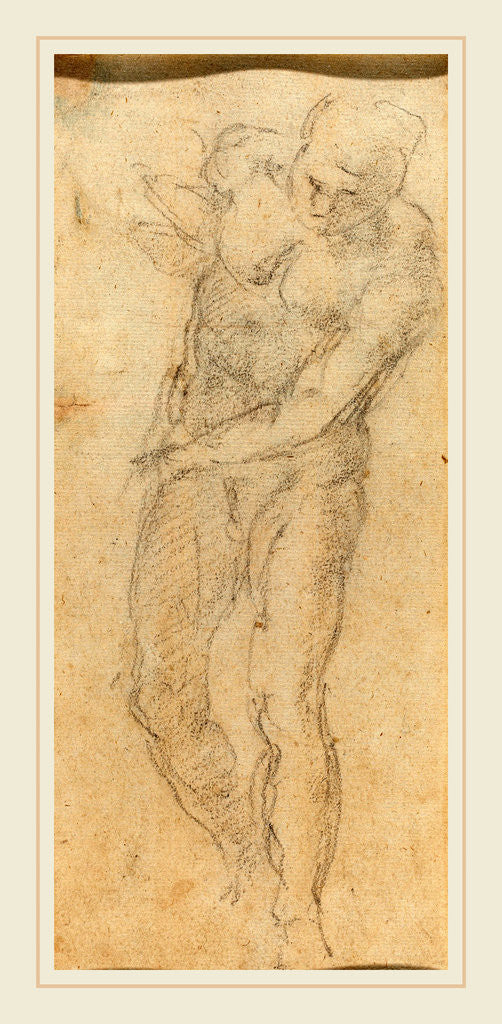 Male Nude Verso C 1560 Posters Prints By Michelangelo