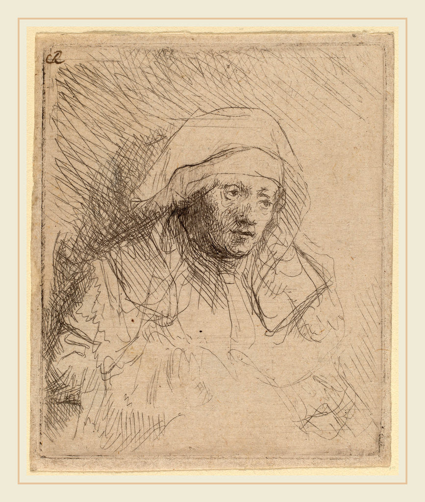 Detail of Sick Woman with a Large White Headdress by Rembrandt van Rijn