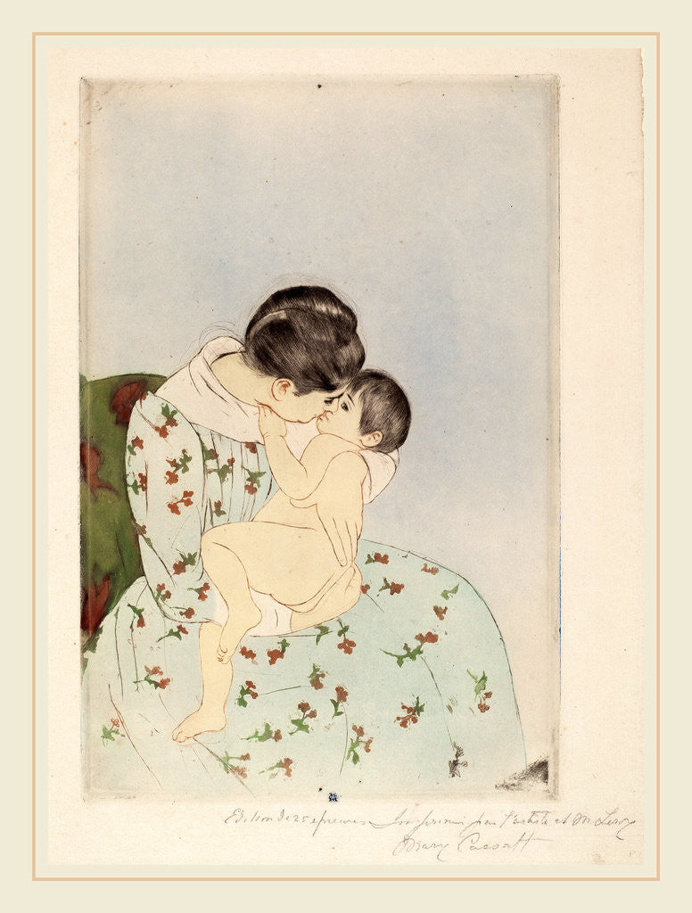 Detail of Mother's Kiss by Mary Cassatt