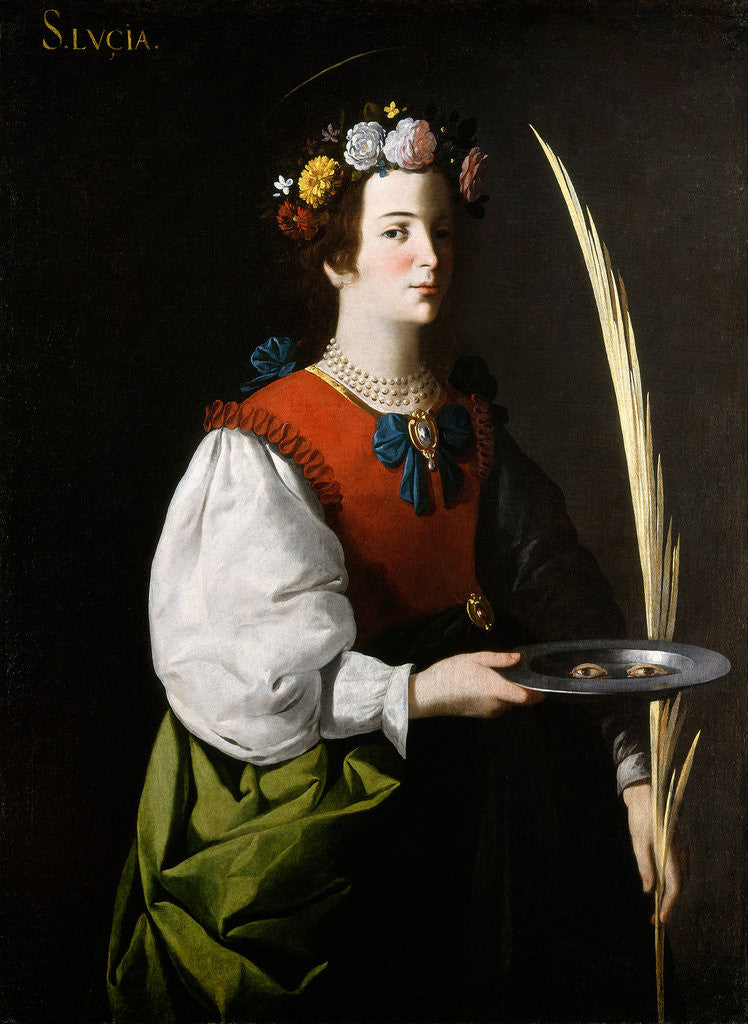 Detail of Saint Lucy by Francisco de Zurbarán