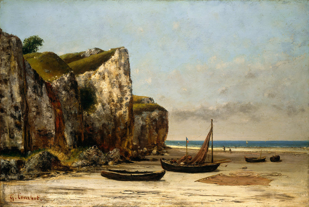 Detail of Beach in Normandy by Gustave Courbet