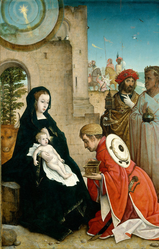 Detail of The Adoration of the Magi by Juan de Flandes