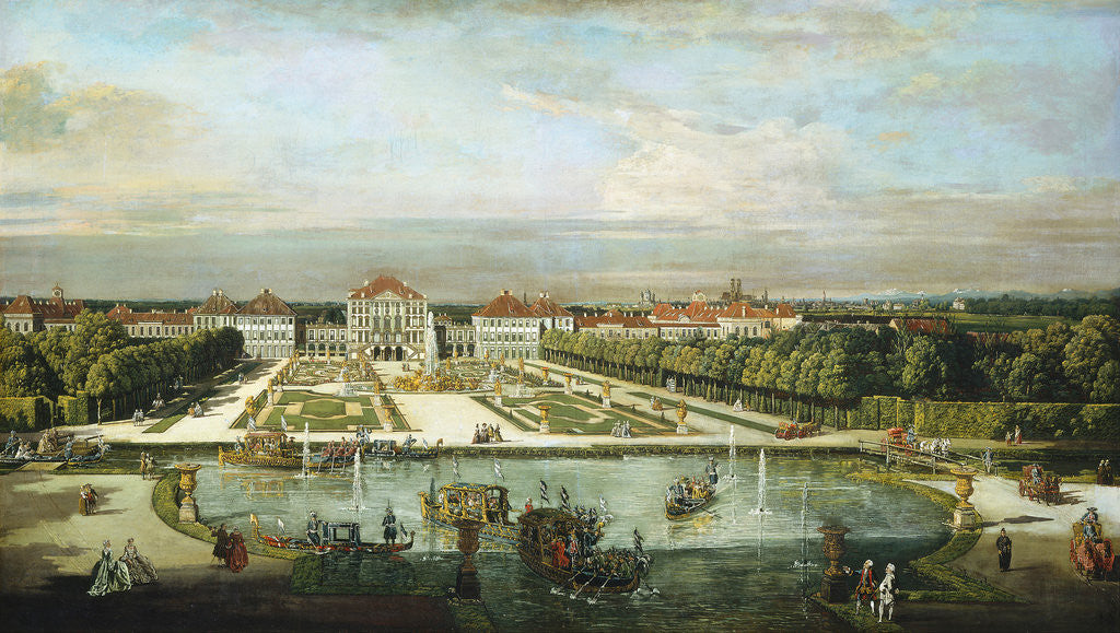 Detail of Nymphenburg Palace, Munich, c. 1761 by Bernardo Bellotto and Workshop