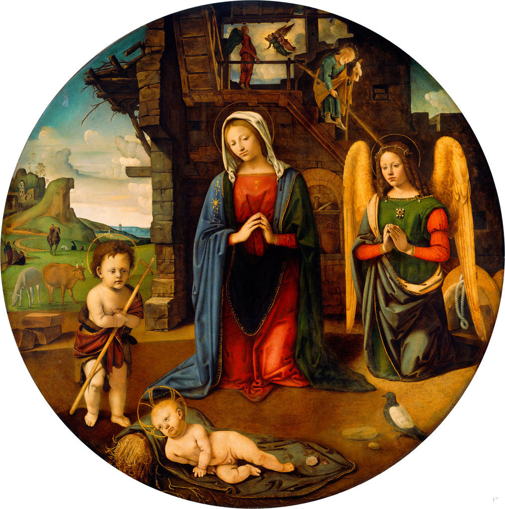 Detail of The Nativity with the Infant Saint John by Piero di Cosimo