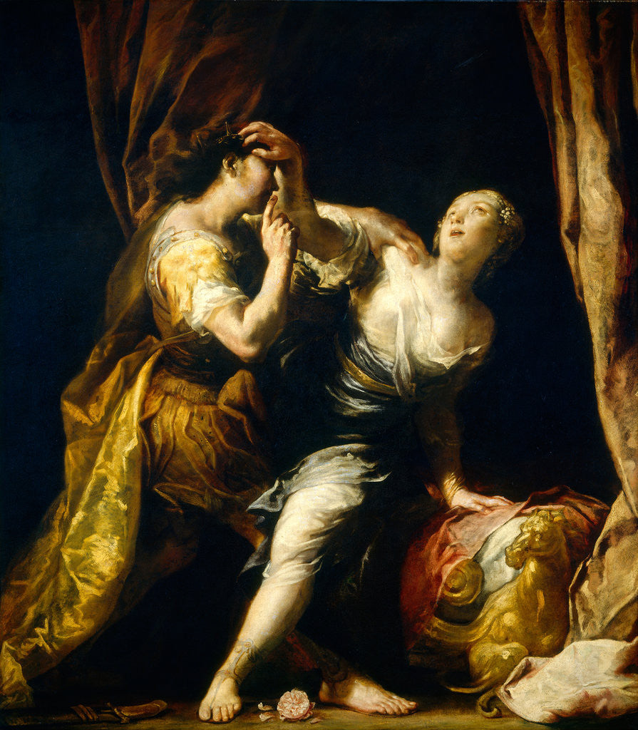 Detail of Tarquin and Lucretia by Giuseppe Maria Crespi