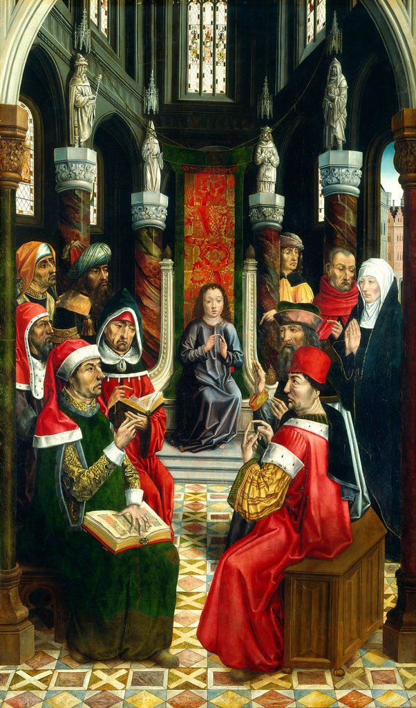 Detail of Christ among the Doctors by Master of the Catholic Kings
