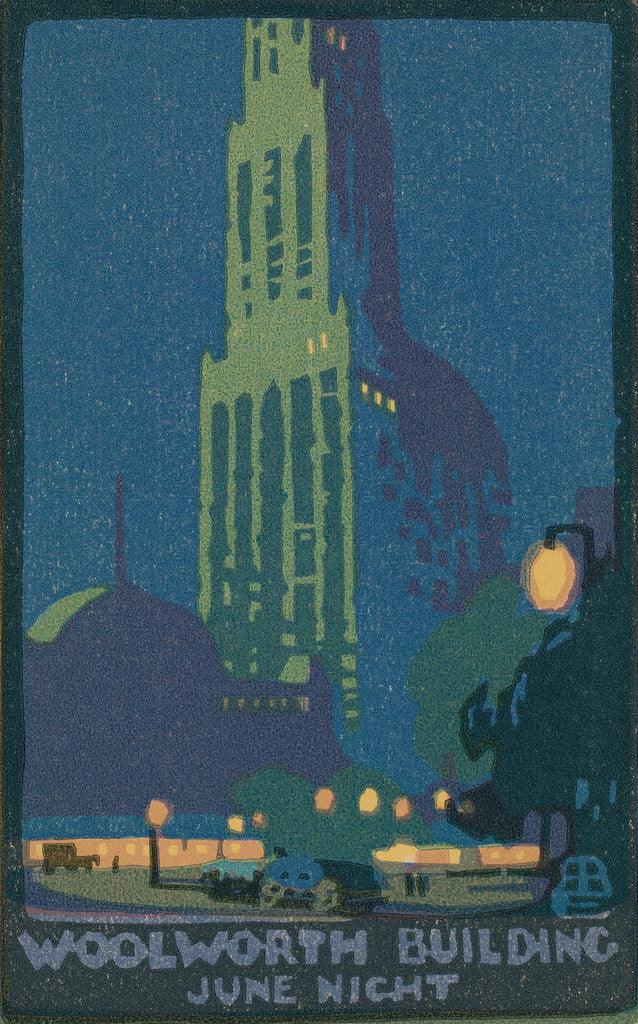 Detail of Woolworth Building June Night by Rachael Robinson Elmer