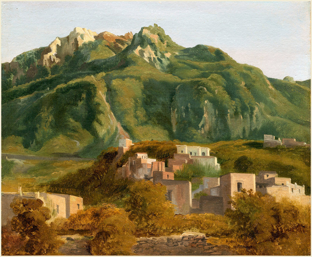 Detail of Village on the Island of Ischia, c. 1826 by Sébastien-Louis-Guillaume Norblin de la Gourdaine