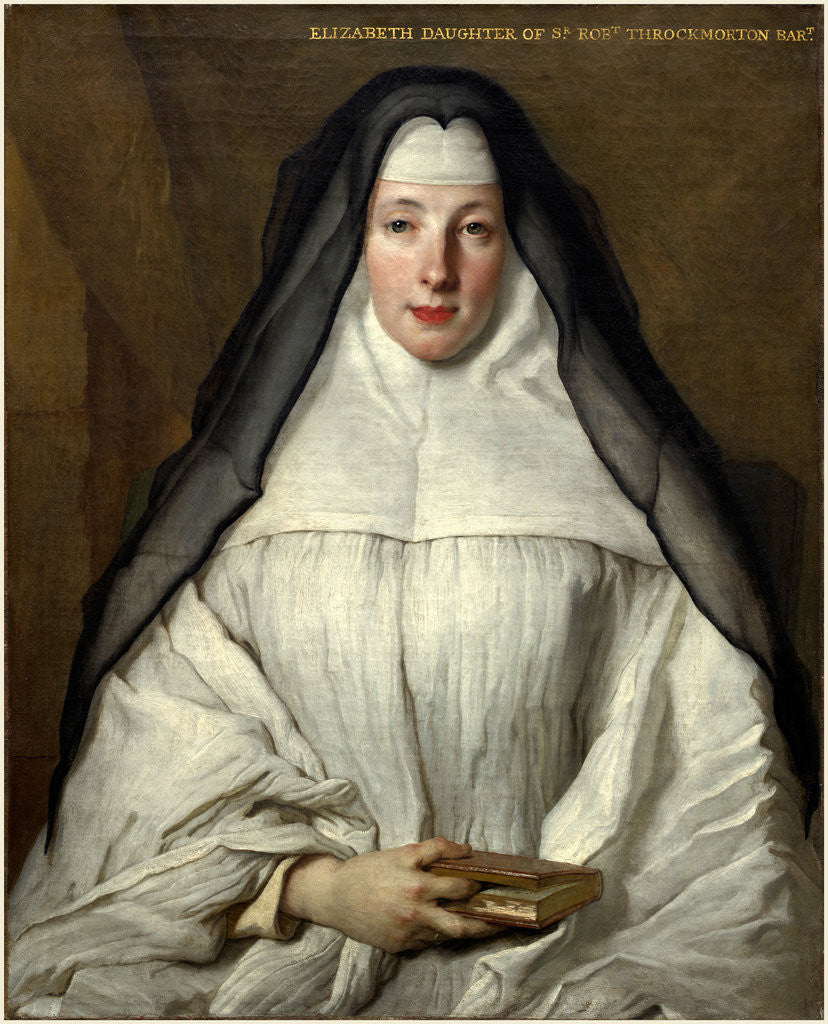 Detail of Elizabeth Throckmorton, Canoness of the Order of the Dames Augustines Anglaises, 1729 by Nicolas de Largillierre