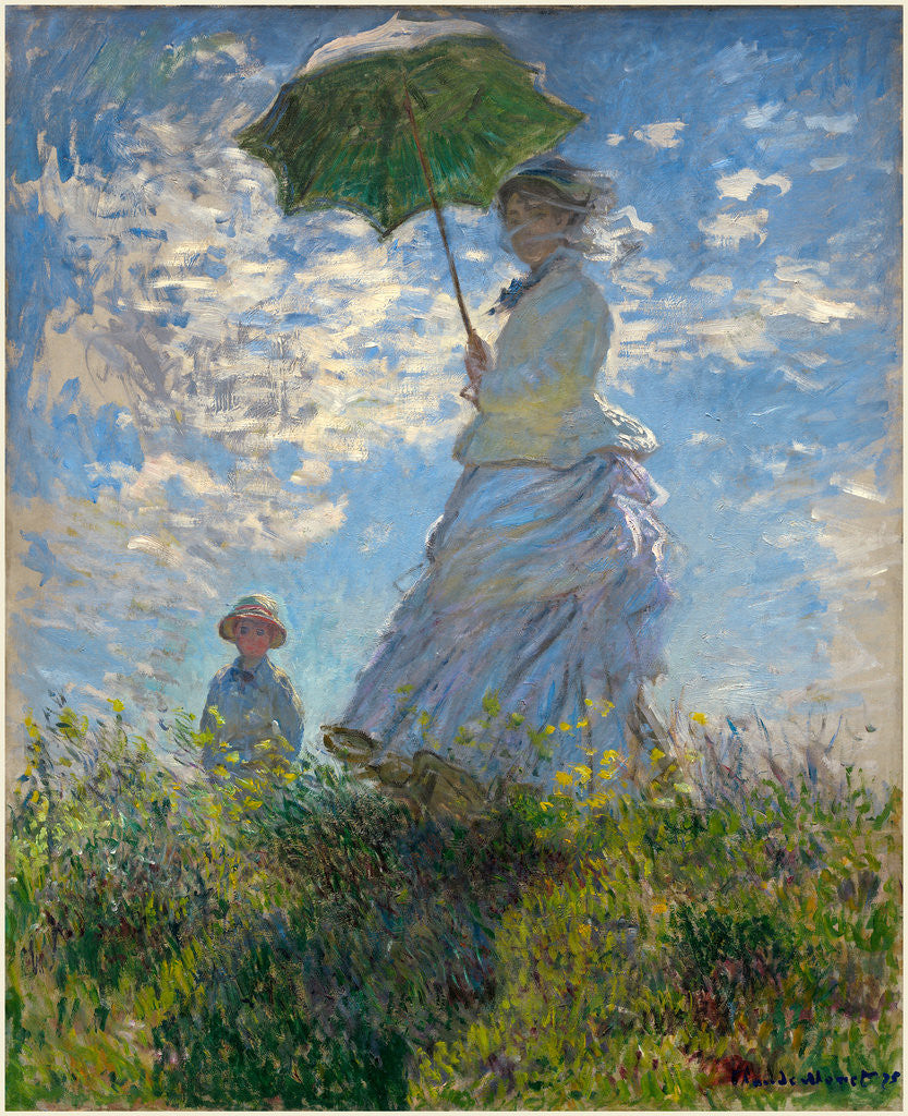 Detail of Woman with a Parasol-Madame Monet and Her Son, 1875 by Claude Monet