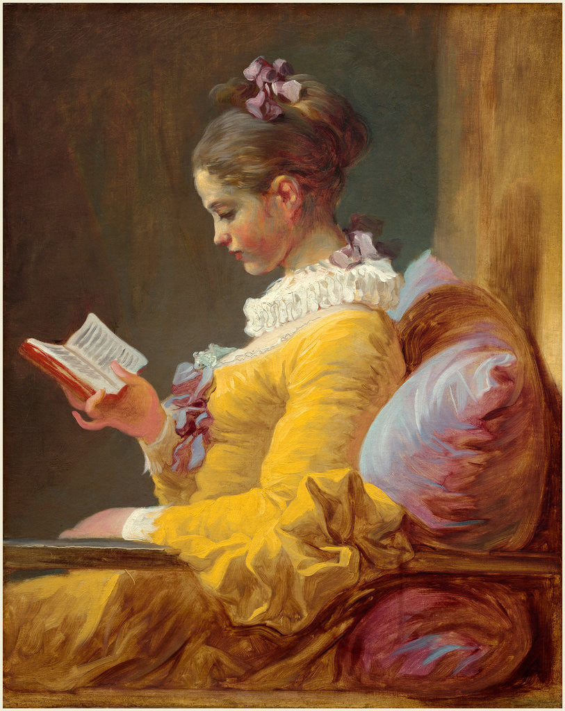 Detail of Young Girl Reading, c. 1770 by Jean-Honoré Fragonard