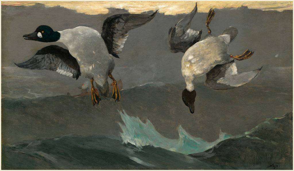 Detail of Right and Left by Winslow Homer