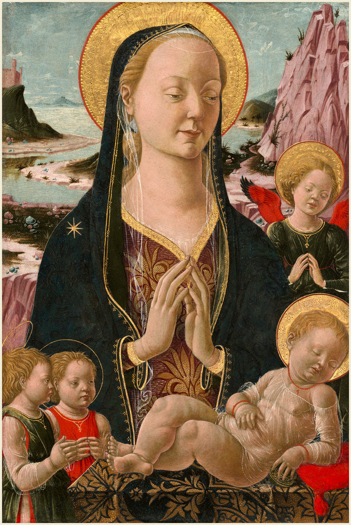 Detail of Madonna and Child with Angels by Anonymous