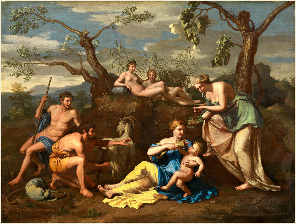 Detail of Nymphs Feeding the Child Jupiter, c. 1650 by Follower of Nicolas Poussin