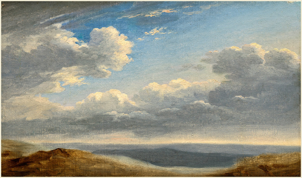 Detail of Study of Clouds over the Roman Campagna by Pierre-Henri de Valenciennes