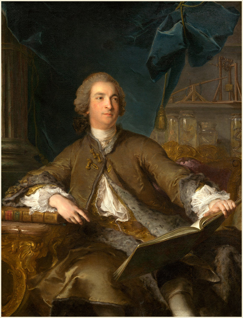 Detail of Joseph Bonnier de la Mosson, 1745 by Jean-Marc Nattier