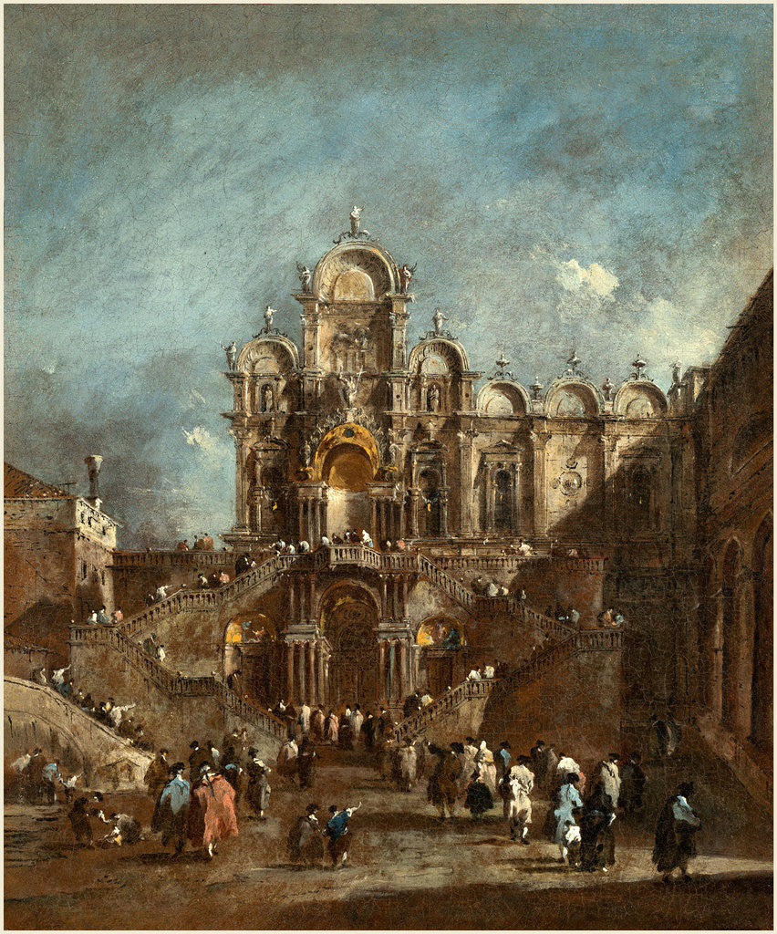 Detail of Italian, Temporary Tribune in the Campo San Zanipolo, Venice, 1782 or after by Francesco Guardi