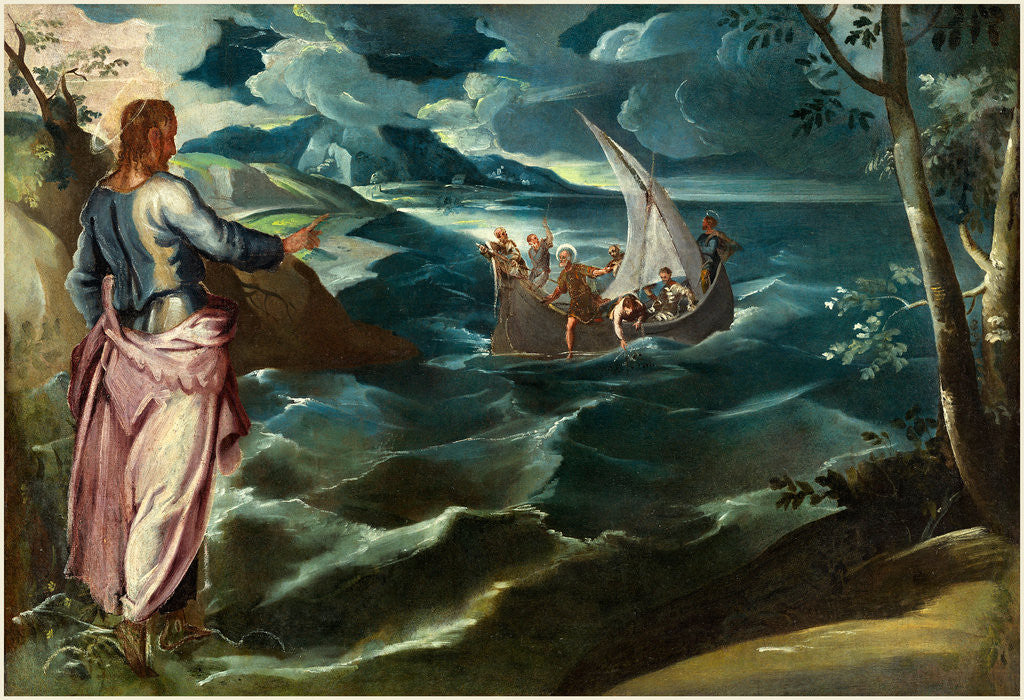 Detail of Italian, Christ at the Sea of Galilee by Jacopo Tintoretto